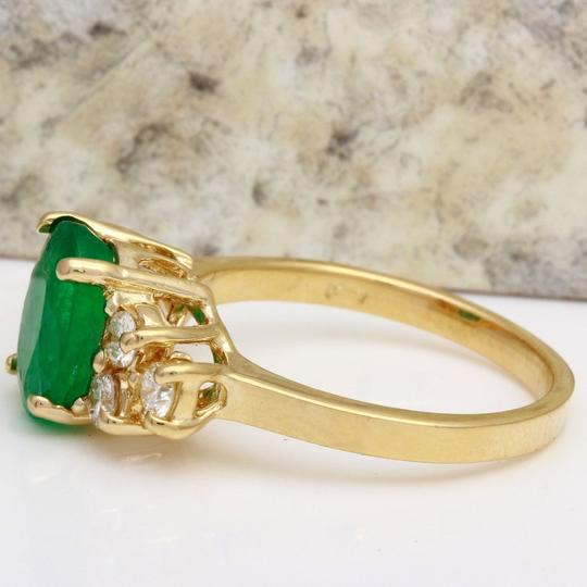 Other 2.25Ct Natural Emerald & Diamond 14K Yellow Gold Ring Image 1