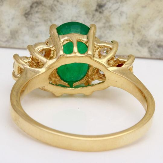 Other 2.25Ct Natural Emerald & Diamond 14K Yellow Gold Ring Image 2