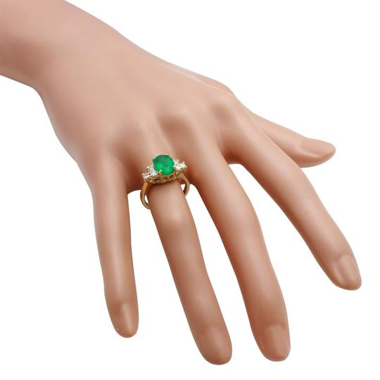 Other 2.25Ct Natural Emerald & Diamond 14K Yellow Gold Ring Image 4