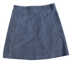 Lands' End Corduroy Schoolgirl Skirt Gray