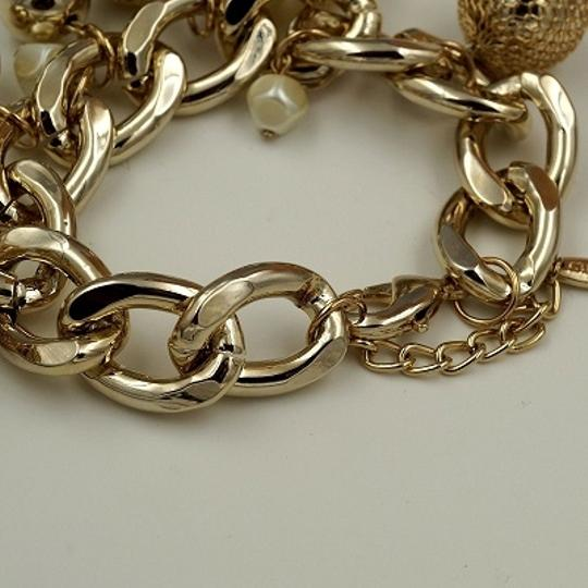 pearl chain 18K Gold Plated GP Pearl Chain Cluster Bangle Cuff Bracelet
