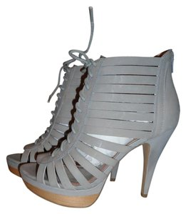 Miss Sixty Suede Platform Lace-up Gray Boots