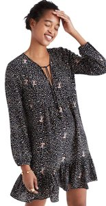 Madewell short dress black Silk Paisley Boho on Tradesy