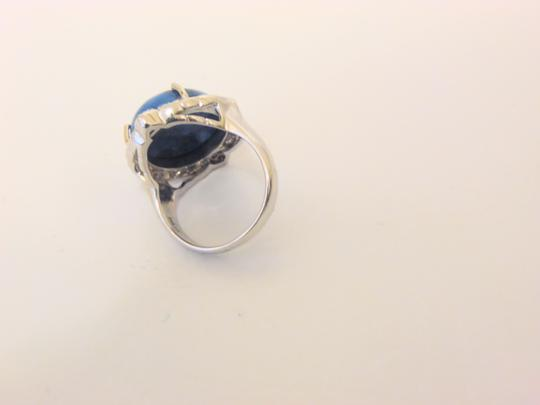 Colleen Lopez Colleen Lopez Turquoise and White Topaz Sterling Silver Ring 8 Image 2