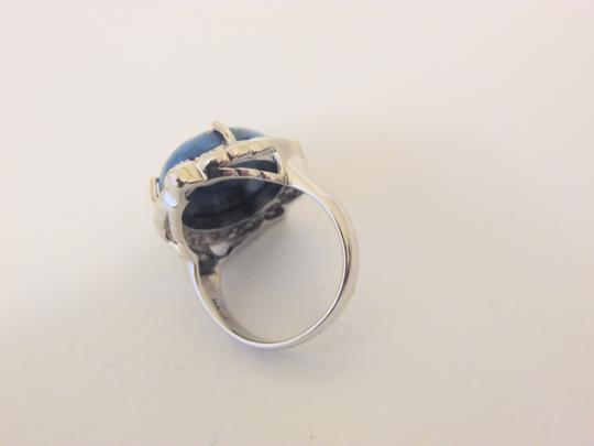 Colleen Lopez Colleen Lopez Turquoise and White Topaz Sterling Silver Ring 8 Image 8