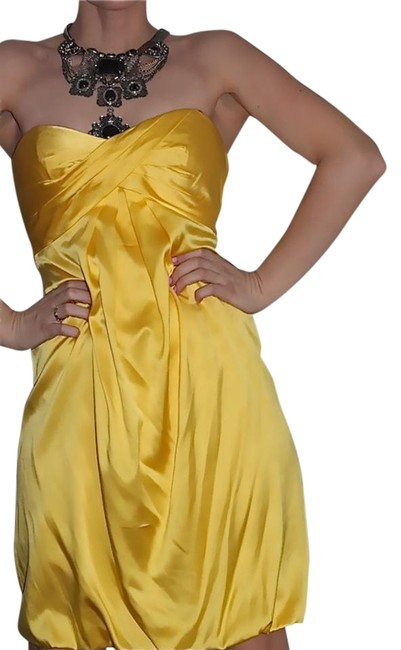 Preload https://img-static.tradesy.com/item/22169030/nicole-miller-yellow-collection-silk-short-cocktail-dress-size-2-xs-0-2-650-650.jpg