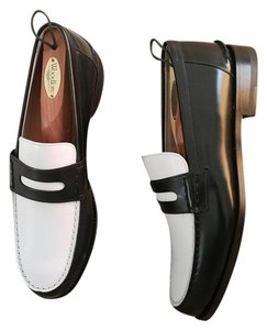 Bally Black and White Flats