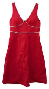 R & K short dress Red with white and black trim on Tradesy