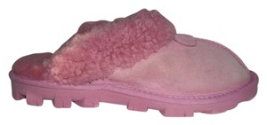UGG Australia Shearling Leather Slippers Sn5125 Pink Mules