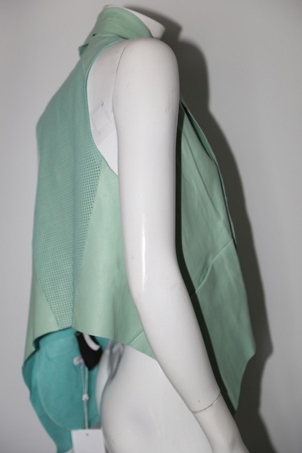 LAMARQUE Mint Perforated Vest Image 7
