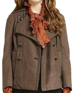 Tory Burch Lateen S Coconut/Brown Leather Jacket