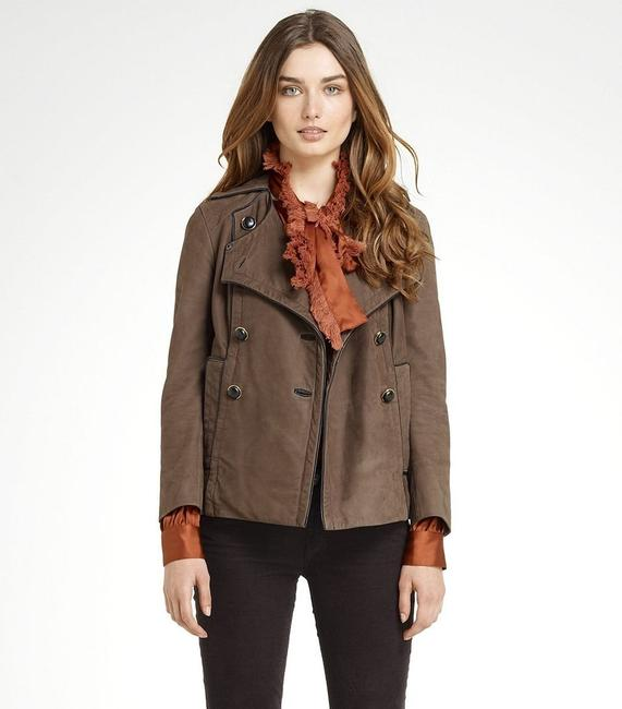 Tory Burch Lateen S Coconut/Brown Leather Jacket Image 1