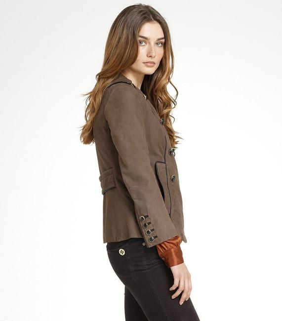Tory Burch Lateen S Coconut/Brown Leather Jacket Image 2