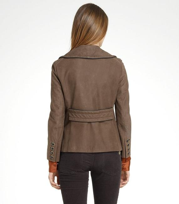 Tory Burch Lateen S Coconut/Brown Leather Jacket Image 3