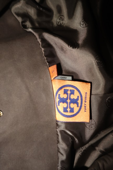Tory Burch Lateen S Coconut/Brown Leather Jacket Image 6