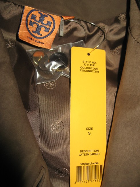 Tory Burch Lateen S Coconut/Brown Leather Jacket Image 7