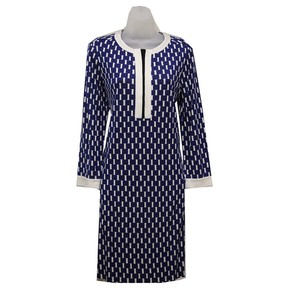 Diane von Furstenberg Split Neckline Three-quarter Sleeves Dress