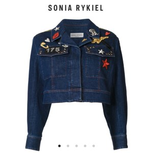 Sonia Rykiel Denim Blue Womens Jean Jacket