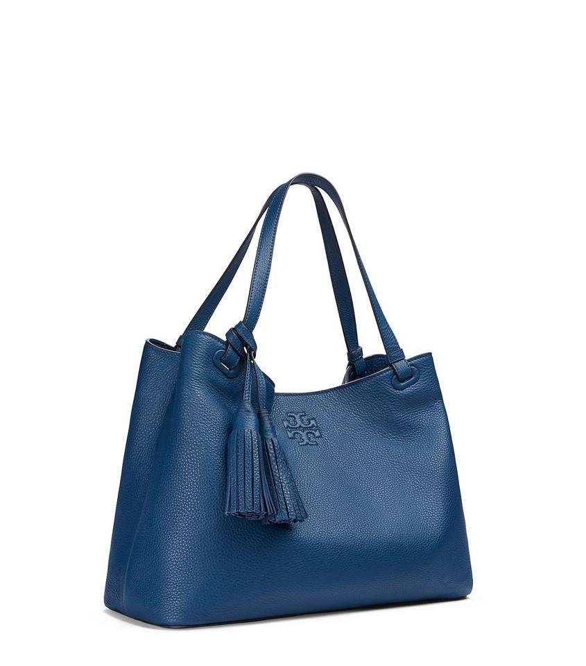 Tory Burch Thea Tote In Tidal Wave Blue 123