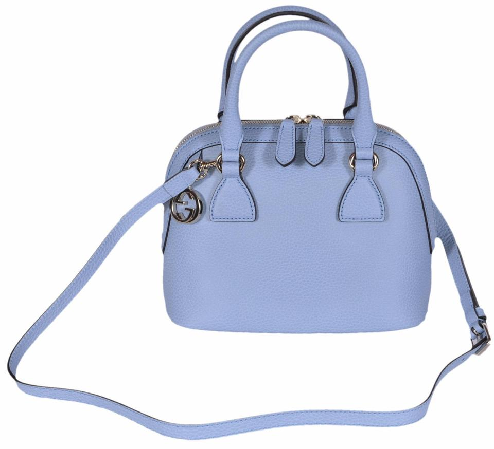 67540dbb446a Gucci New 449661 2-way Convertible Gg Charm Small Purse Mineral Blue ...