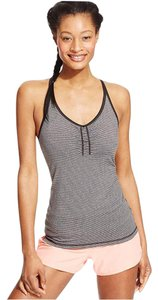 Ideology Ideology Women's Strappy Active Tank Top, Grey/Black Striped, S