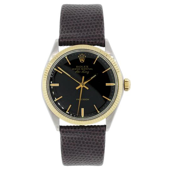 Rolex Rolex 5501 Air-King Two Tone on Leather Strap Watch Image 1