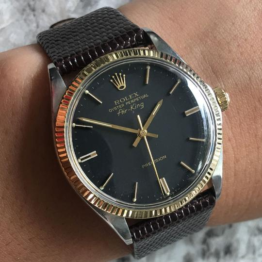 Rolex Rolex 5501 Air-King Two Tone on Leather Strap Watch Image 7