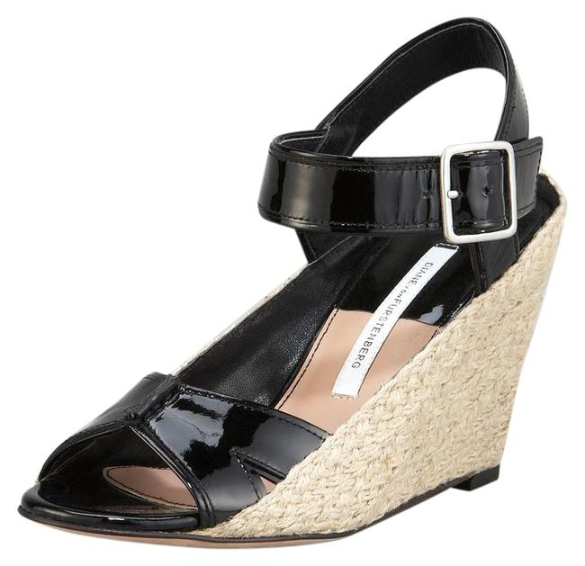 Diane von Furstenberg Black Sudan Wedges Size US 8.5 Regular (M, B) Diane von Furstenberg Black Sudan Wedges Size US 8.5 Regular (M, B) Image 1