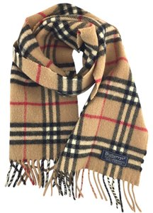 Burberry  14406 Beige Check pattern 100% lambswool scarf 478c115bf00