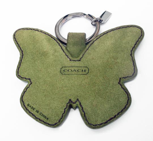 Coach Suede Butterfly Keychain Fob Purse Charm 1737 Image 2