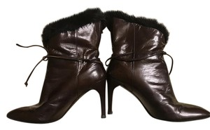 Charles Jourdan Faux Fur Leather brown Boots