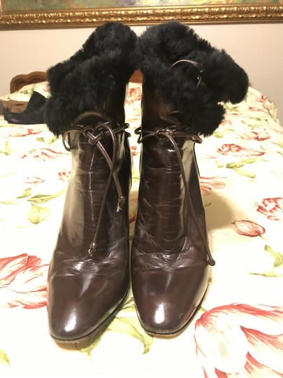 Charles Jourdan Faux Fur Leather brown Boots Image 2