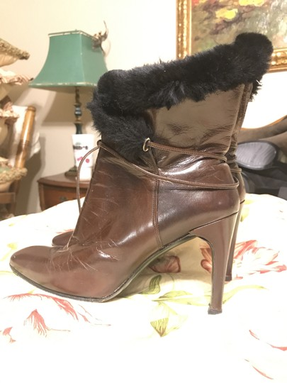 Charles Jourdan Faux Fur Leather brown Boots Image 9