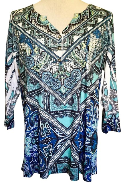 Preload https://img-static.tradesy.com/item/22170584/style-and-co-multicolor-tee-blouse-size-16-xl-plus-0x-0-1-650-650.jpg