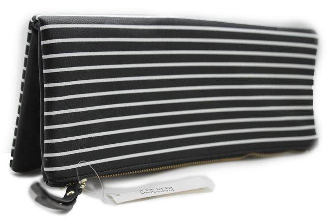 Item - Women Fashion Purse Faux Black and White Leather Clutch