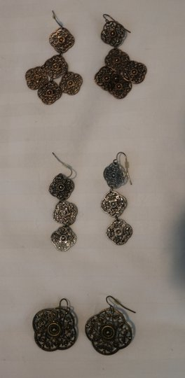 Other (Set of 3) Detailed Earrings Image 1
