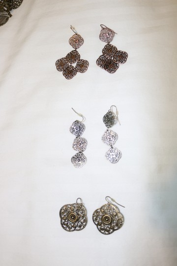 Other (Set of 3) Detailed Earrings Image 2