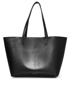 Mansur Gavriel Shoulder Leather Tote in black