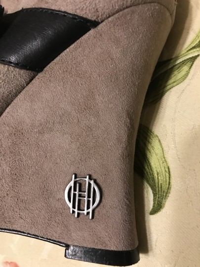 House of Harlow 1960 Arissa Suede Leather Buckle Hoh taupe Boots Image 1