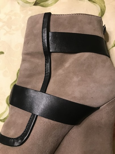 House of Harlow 1960 Arissa Suede Leather Buckle Hoh taupe Boots Image 4