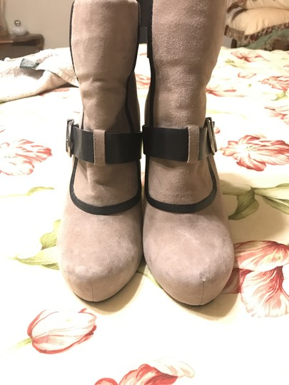 House of Harlow 1960 Arissa Suede Leather Buckle Hoh taupe Boots Image 5