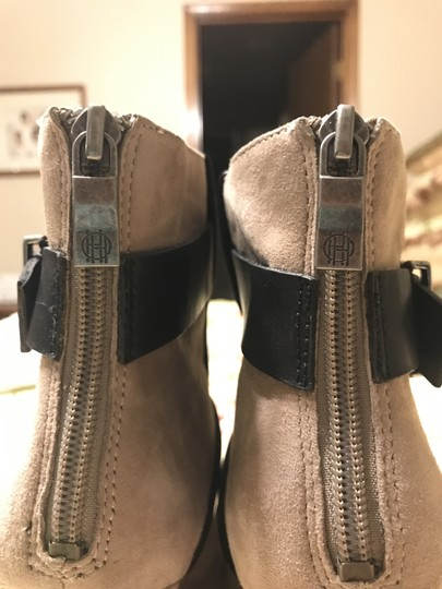 House of Harlow 1960 Arissa Suede Leather Buckle Hoh taupe Boots Image 6