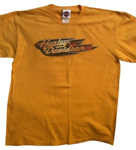 Harley Davidson T Shirt Yellow