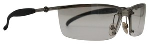 Chanel Rectangular Transparent Silver Shield Sunglasses 4008 c.124/6