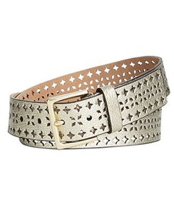 Kate Spade Kate Spade New York Shrunken Perforated Leather Belt
