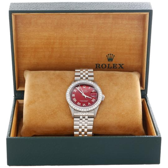 Rolex Rolex 36mm DateJust Diamond Jubilee Watch Roman Numeral Red Dial 1.90 Image 1
