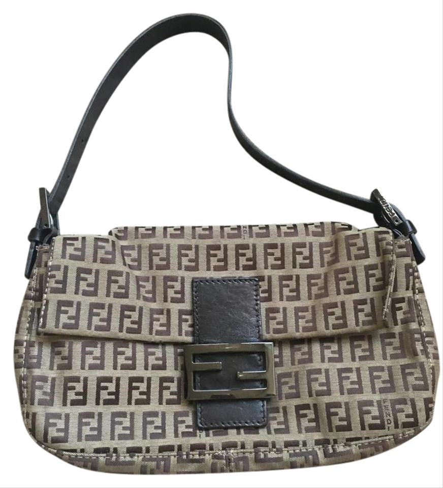 7d058adf07 Fendi Monogram Double F s Black Fabric Shoulder Bag - Tradesy