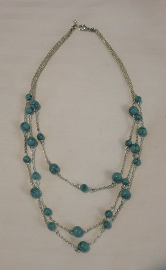 Other Silver & Turquoise Layered Necklace Image 1