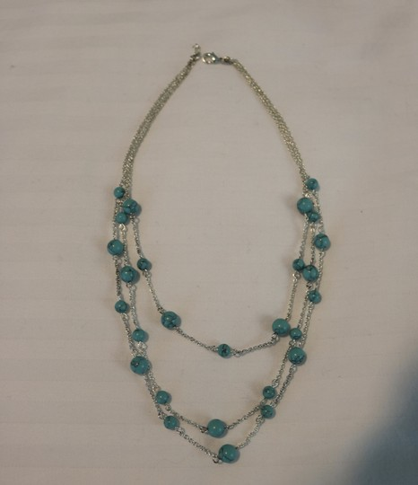 Other Silver & Turquoise Layered Necklace Image 2