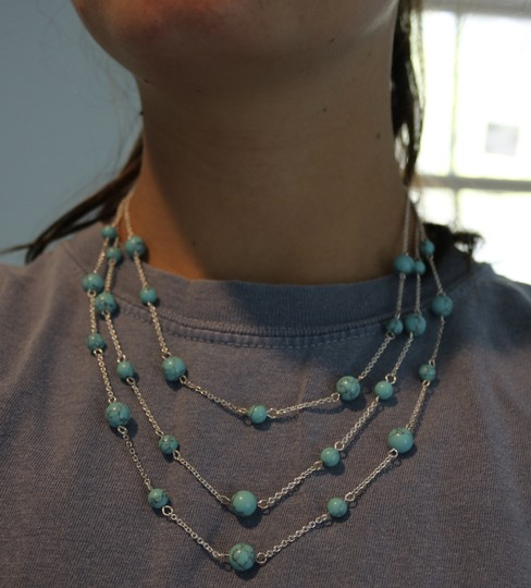 Other Silver & Turquoise Layered Necklace Image 3
